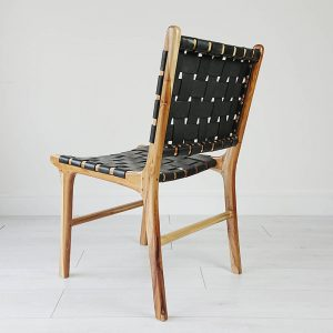 Anyam Leather Anya Dining Chair,58W x 55D x 86H cm