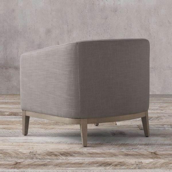 Barros Back Chair teak grey, 76W x 82D x 78H cm