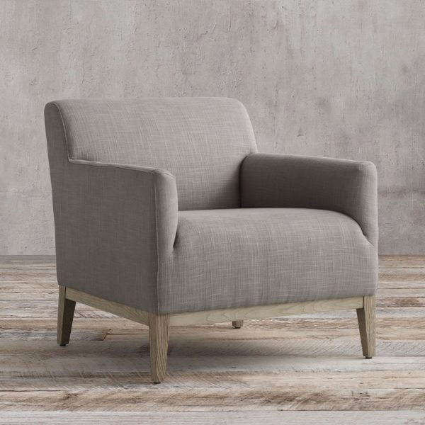 Barros Square Arm Chair teak grey, 76W x 82D x 78H cm