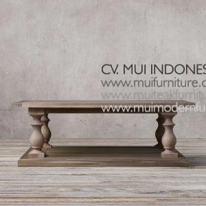 Bubutan Leg Coffee Table Teak, 140W x 70D x 43H cm