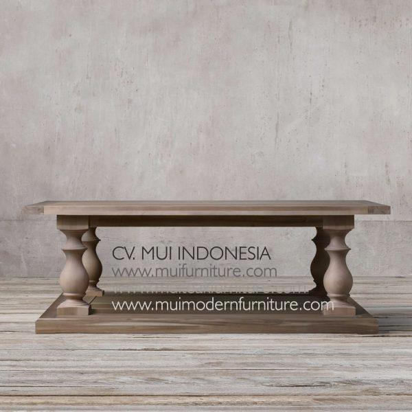 Bubutan Leg Coffee Table Teak, 140W x 70D x 43H cm