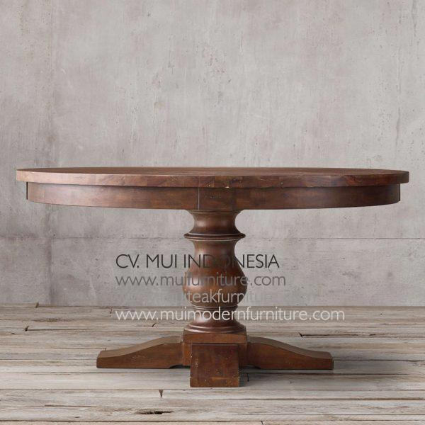 Bubutan Leg Round Table-brown