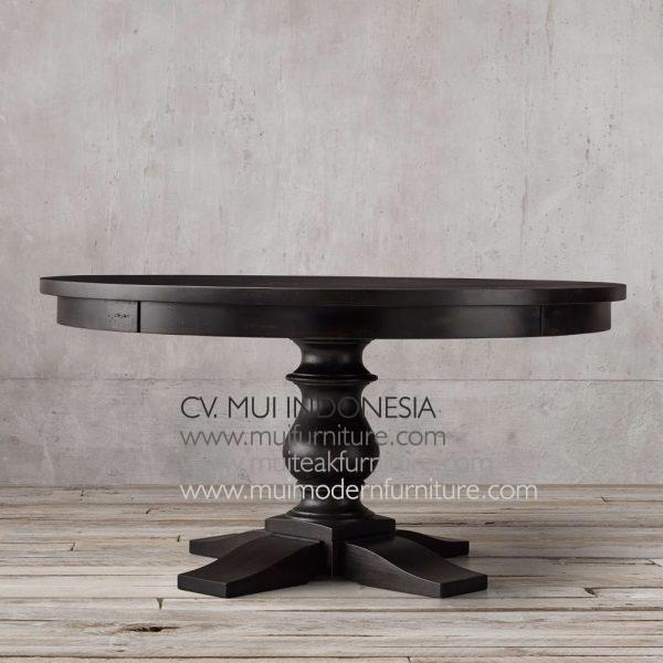 Bubutan Leg Round Table-dark brown