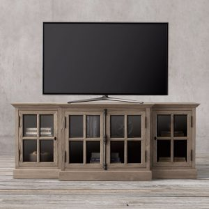 Credenza French tv console, 180W x 55D x 82 H cm