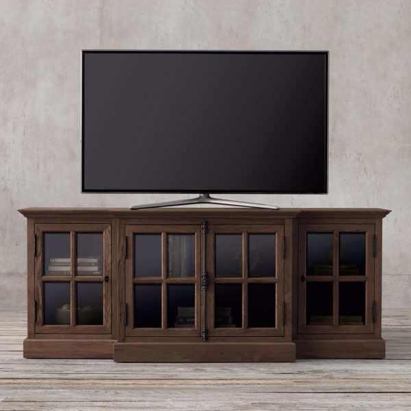 Credenza French tv console-darkbrown