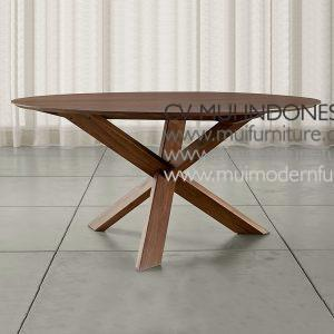 Cross Join Leg Round Table Teak, 150Dia x 75H cm