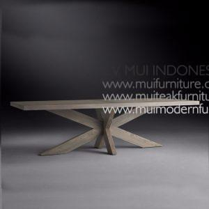 Cross Leg Rectangular Table Teak