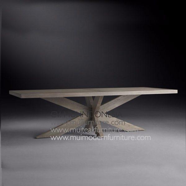 Cross Leg Rectangular Table Teak