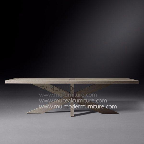 Cross Leg Rectangular Table Teak, 180W x 90D x 75H cm