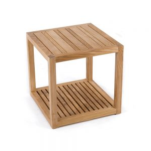 Cube Teak side table, 50W x 50D x 50H cm