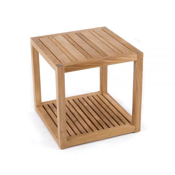 Cube Teak side table, 50W x 50D x 50H cm