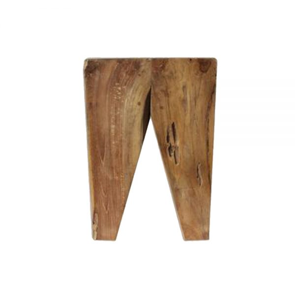 Diamond Teak Stool, 53W x 35D x 45H cm