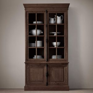 Display French Buffet 2 door Wide Teak -dark brown