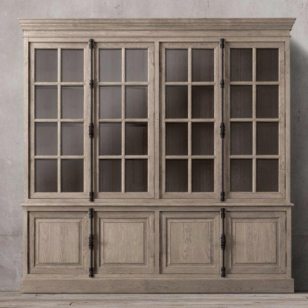 Display French Buffet 4 door Wide Teak, 160W x 55D x 210H cm