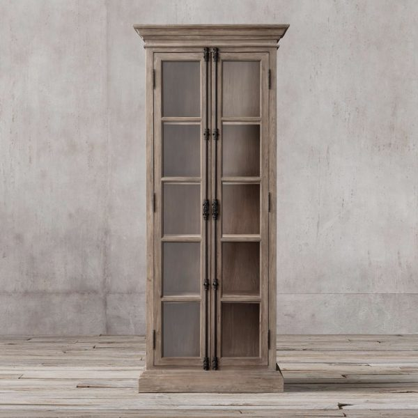 Display French Double door teak, 70W x 50D X 210H cm