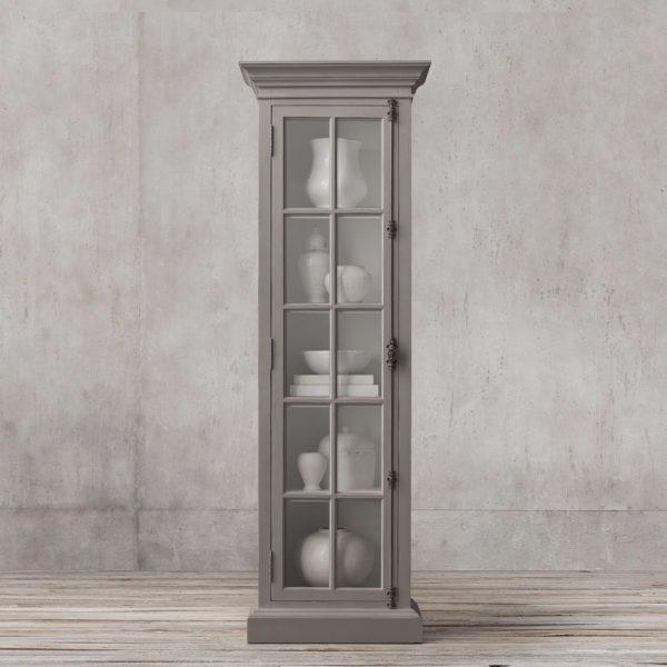 Display French Single door teak-Grey
