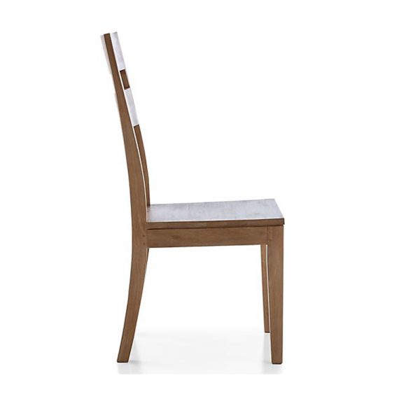 Double Back Stripe Teak Dining Chair, 48W x 57D x 99H cm