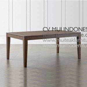 Extention Dining Teak Table Grey, 180~240W x 110D x 75H cm