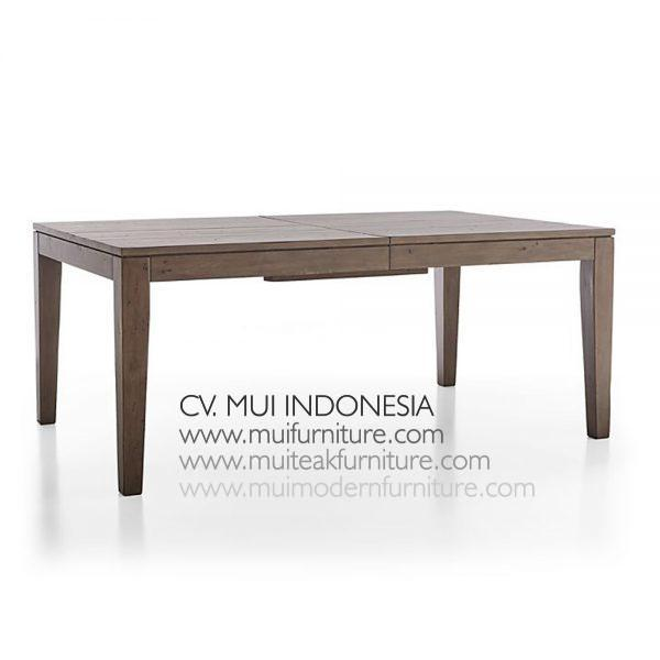 Extention Dining Teak Table Grey