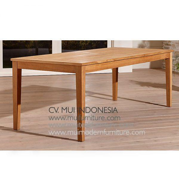 Extention Dining Teak Table Natural, 180~240W x 110D x 75H cm