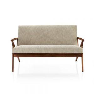 Kao Arm Chair Teak 2 seat, 120 W x 82D x 79H cm