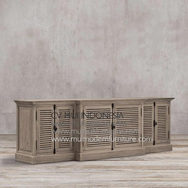 Kare Teak French Tv Stand, 220W x 55D x 80H cm