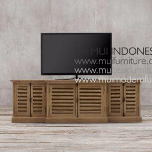 Kare Teak French Tv Stand-Brown