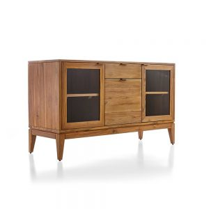 Keana Sideboard 2 Door teak natural, 132W x 45D x 76H cm