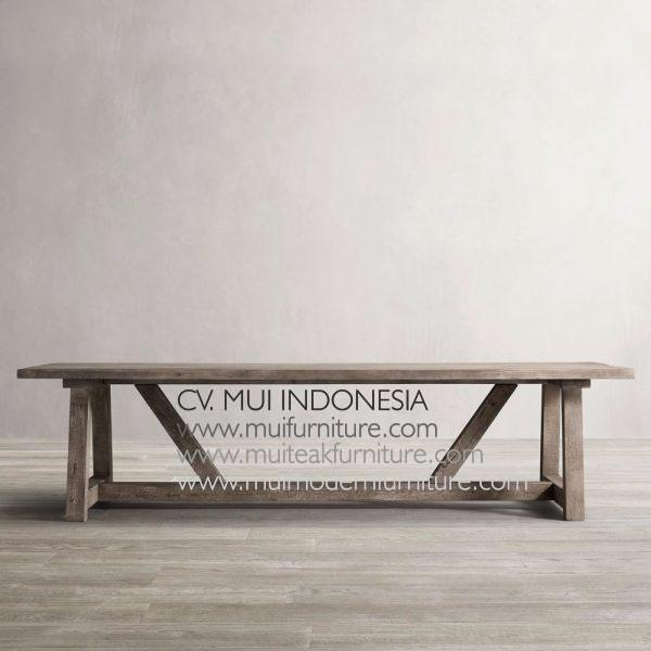 Leg A Table Teak wood-grey