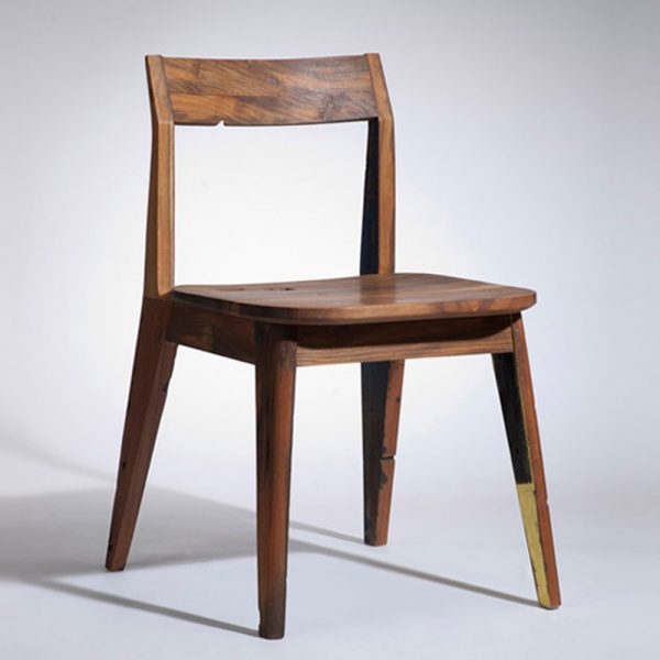 Leg Chair Reclaimed Teak Color, 47W x 50D x 73H cm