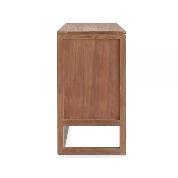 Lini Natural Teak 3 Drawer, 100W x 52D x 90H cm