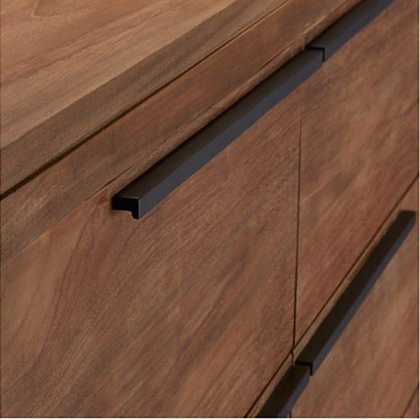 Lini Natural Teak 6 Drawer, 140W x 52D x 90H cm