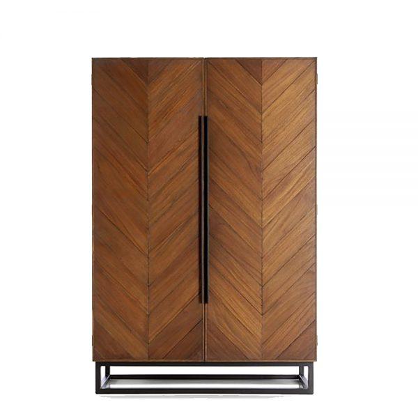 Moza Armoire Leg Steel, 95W x 50D x 180H cm