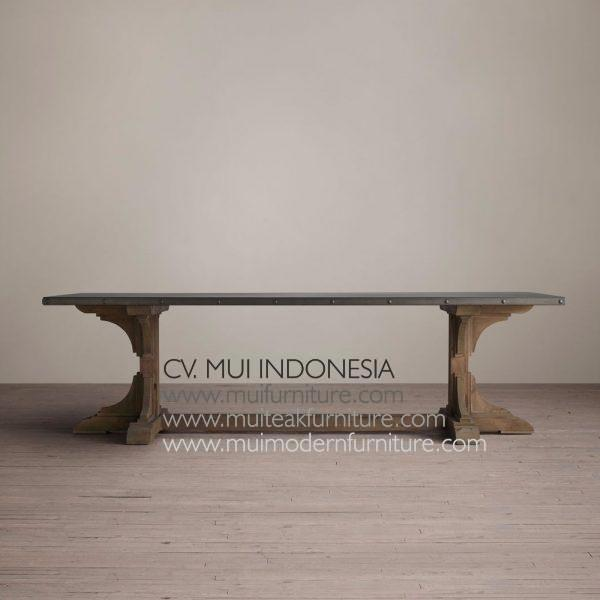 Nest Rectangular Teak Table, 200W x 100D x 75H cm