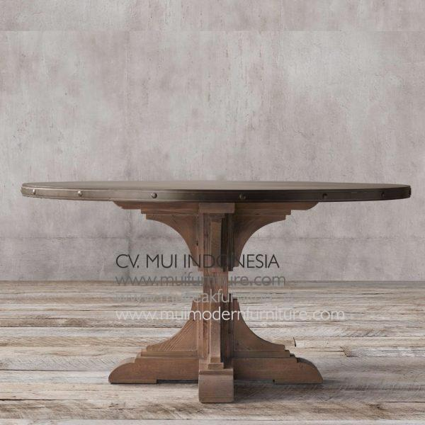 Nest Round Teak Table, Dia 140 x 75H cm