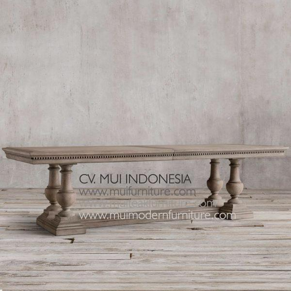 Poster Dining Table Teak , 220W x 100D x 75H cm