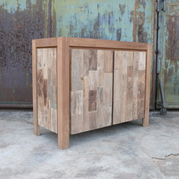 Reclaimed Teak Mozaik Color, 90W x 45D x 80H cm