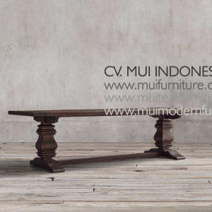 Reclaimed Teak Umpak leg Table Teak,220W x 100D x 75H cm