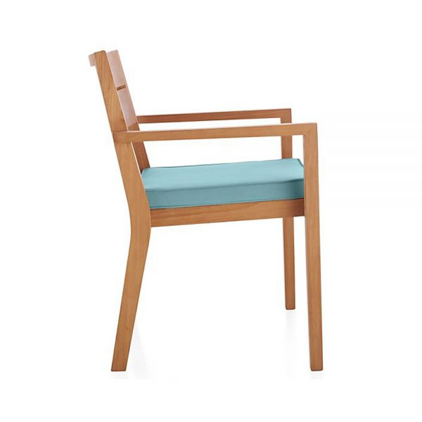 Regina Dining arm chair Natural Teak, 60W x 62D x 85H cm