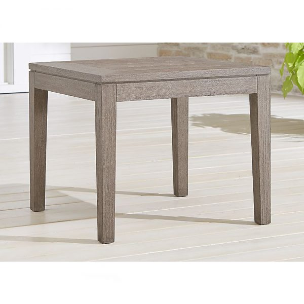 Regina End Table Teak Grey, 60W x 60D x 48H cm