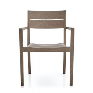 Regina Grey Dining arm chair Teak