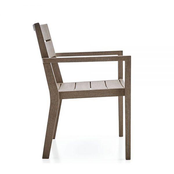 Regina Grey Dining arm chair Teak