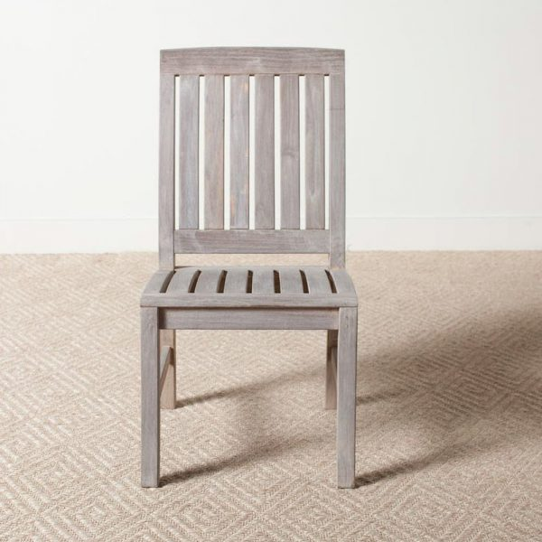 Regina Grey Teak Dining Chair, 48W x 56D x 99H cm
