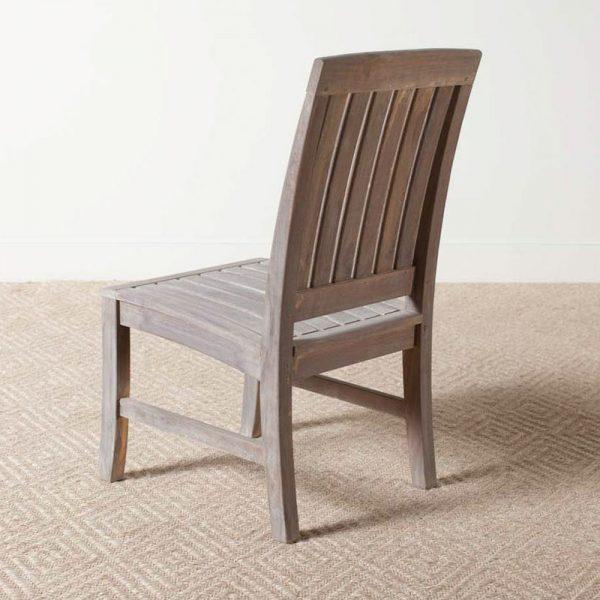 Regina Grey Teak Dining Chair, 48W x 56D x 99H cm