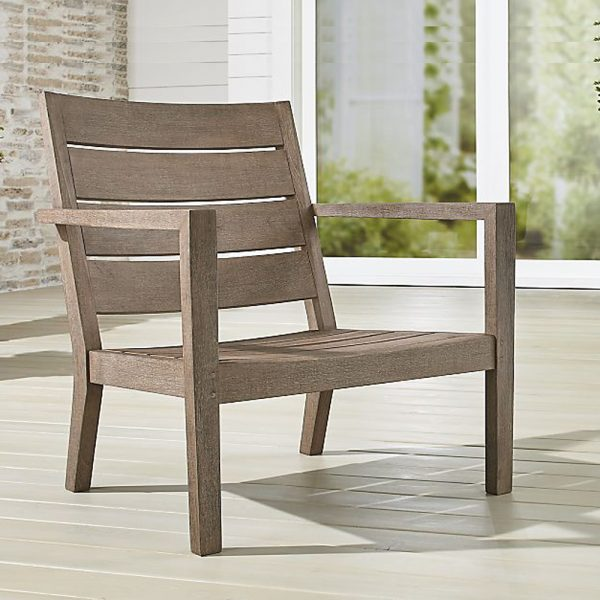 Regina Lounge Grey Teak Chair, 76W x 76D x 83H cm