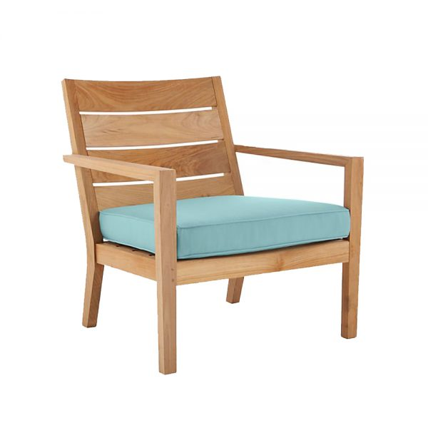 Regina Lounge Natural Teak Chair, 76W x 76D x 83H cm