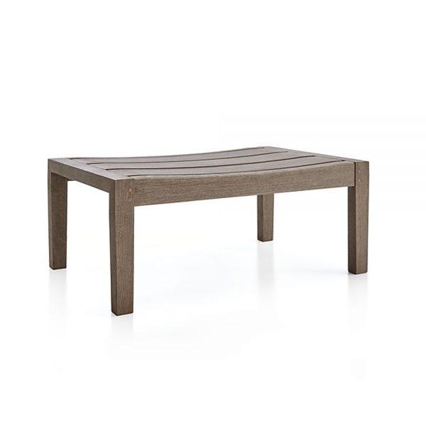 Regina Lounge Stool Grey Teak, 76W x 48D x 38H cm