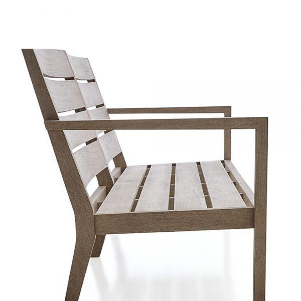 Regina Lounge Teak Chair 2 Seat, 180W x 76D x 83H cm