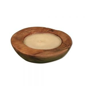 Root Candle Stand Teak, 20W x 20D x 5H cm