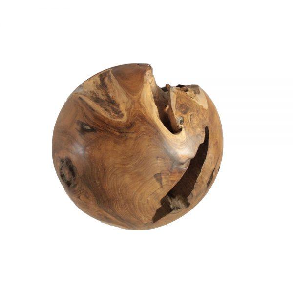 Root Teak Ball, Diameter 40cm
